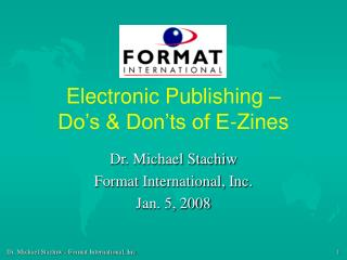 Electronic Publishing –  Do's & Don'ts of E-Zines