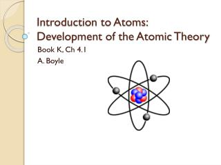 Introduction to Atoms: Development of the Atomic Theory