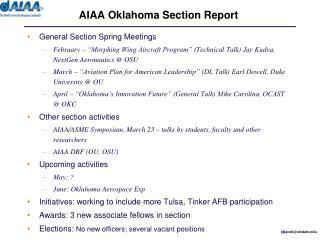 AIAA Oklahoma Section Report