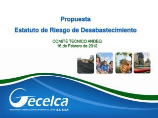 COMITÉ TECNICO ANDEG 16 de Febrero de 2012