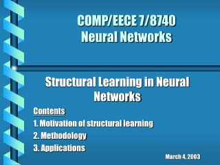 COMP/EECE 7/8740  Neural Networks