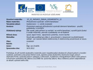 Označení materiálu:  VY_32_INOVACE_ZMAJA_VODARENSTVI_12