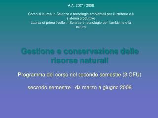 A.A. 2007 / 2008