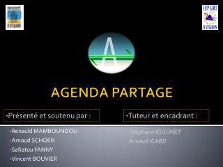 Renauld MAMBOUNDOU Arnaud SCHOEN Safiatou FANNY Vincent BOUVIER