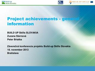 Project achievements - general information