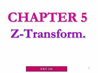 Z-Transform.