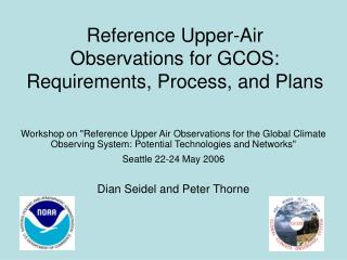 Reference Upper-Air  Observations for GCOS:  Requirements, Process, and Plans