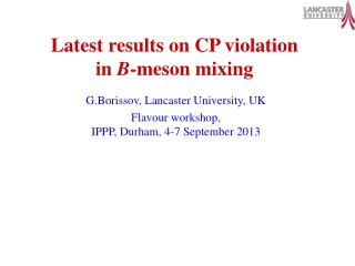 Latest results on CP violation in  B -meson mixing