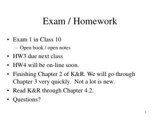 Exam / Homework