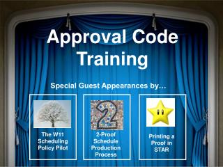 Approval Code Training
