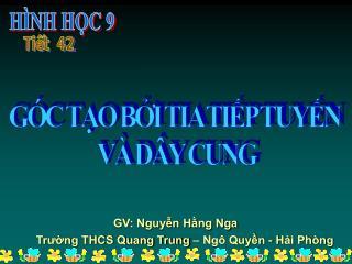 GV: Nguyễn Hằng Nga