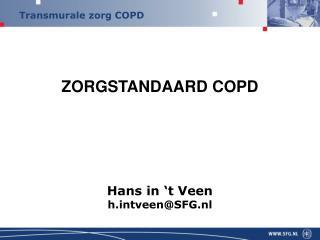 Hans in 't Veen htveen@SFG.nl