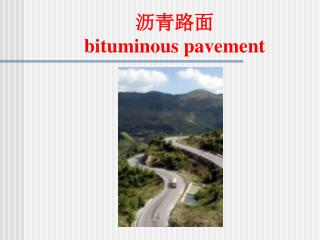 沥青路面 bituminous pavement
