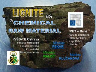 1 VUT vBrně Fakulta chemická Ústav fyzikální  a spotřební  c hemie