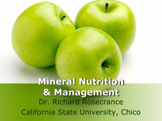 Mineral Nutrition & Management