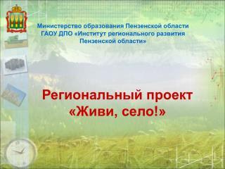 Региональный проект  «Живи, село!»