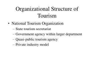 Organizational Structure of Tourism