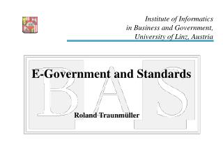 E-Government and Standards