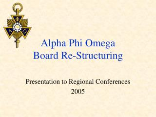 Alpha Phi Omega Board Re-Structuring