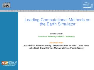Leading Computational Methods on the Earth Simulator