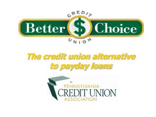 The credit union alternative  to payday loans