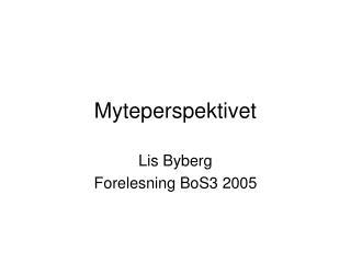 Myteperspektivet