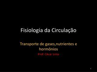 Fisiologia da Circula��o