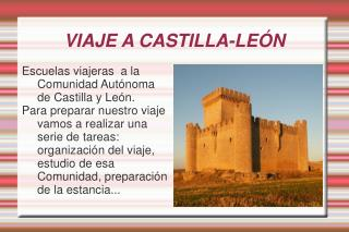 VIAJE A CASTILLA-LEÓN