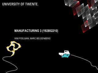 Manufacturing 3 (192802210)