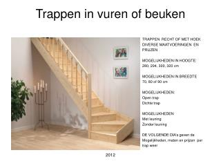 Trappen in vuren of beuken