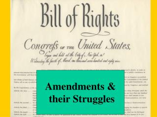 Amendments &  their Struggles