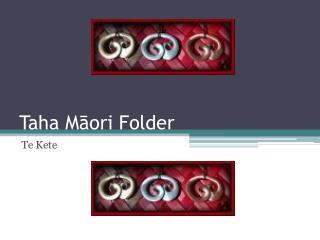 Taha  Māori Folder