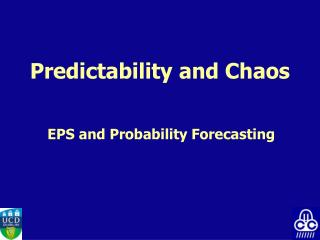 Predictability and Chaos