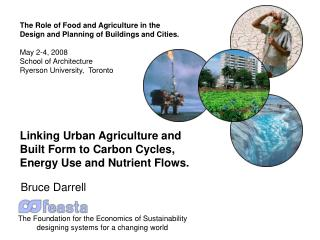 The Role of Food and Agriculture in the Design and Planning of Buildings and Cities. May 2-4, 2008
