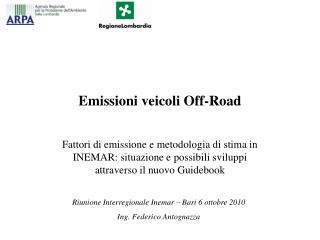 Emissioni veicoli Off-Road