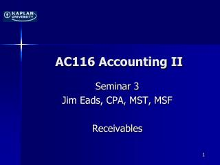 AC116 Accounting II