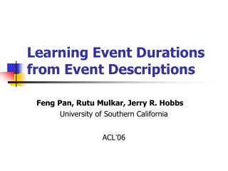 Learning Event Durations from Event Descriptions