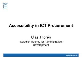 Accessibility in ICT Procurement