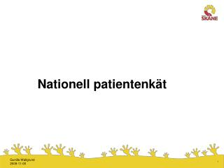 Nationell patientenk�t