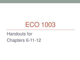 ECO 1003