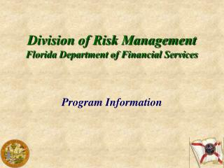 Division of Risk Management Florida Department of Financial Services