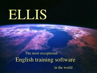 The most exceptional English training software in the world