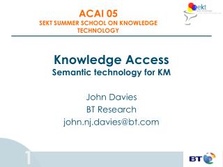 Knowledge Access Semantic technology for KM