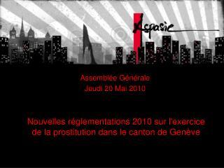 Nouvelles r glementations 2010 sur lexercice de la prostitution dans le canton de Gen ve