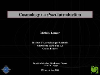 Cosmology : a  short  introduction