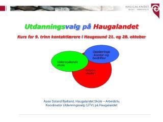 Utdannings valg på  Haugalandet Kurs for 9. trinn kontaktlærere i Haugesund 21. og 28. oktober