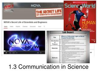 1.3 Communication in Science