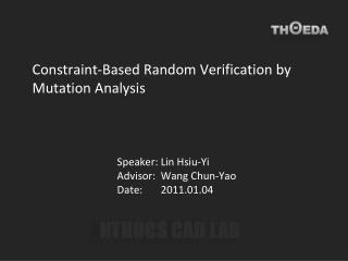Constraint-Based Random Verification by Mutation Analysis
