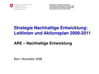 Bern, November 2008