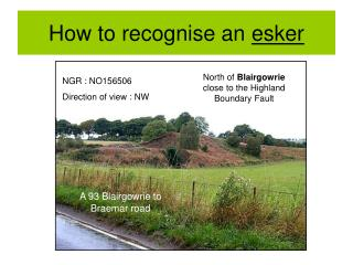 How to recognise an  esker